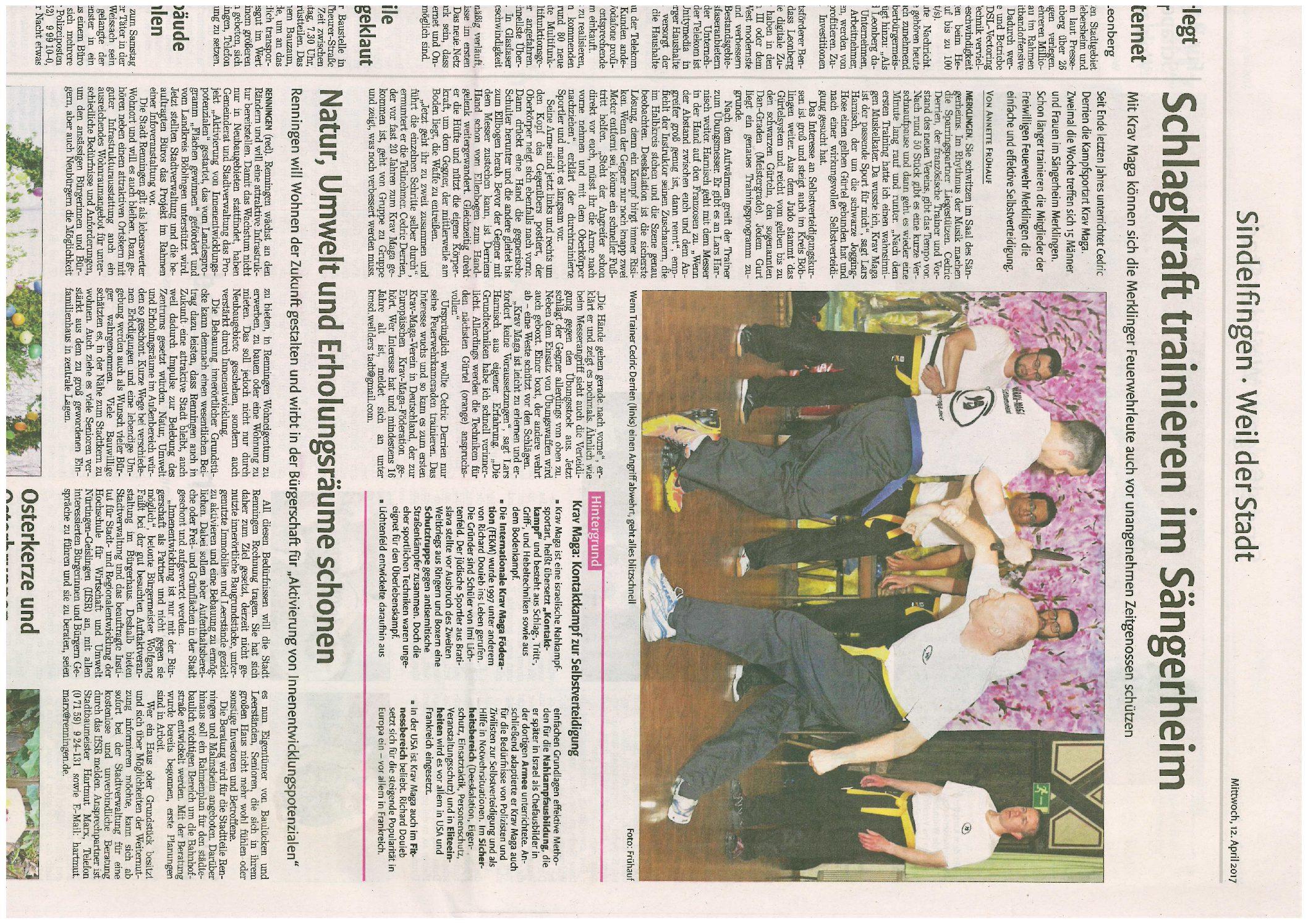 Wir sind in der Zeitung